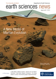 Earth Sciences Newsletter 2013 Front Cover