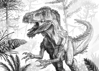 megalosaurus illustration by Andrew Orkney