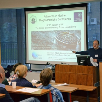 Report: Advances in Marine Biogeochemistry Conference, 6th-8th Jan 2016