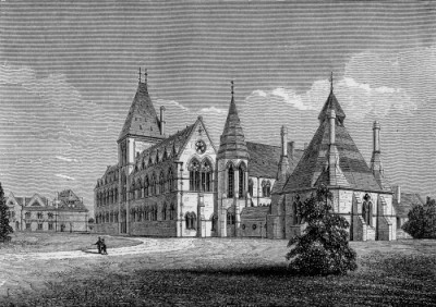 Lithograph of the University Museum, circa 1880
