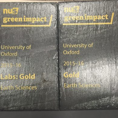Green Impact Awards: Double Gold for Department