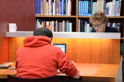 Students Working Quietly in the Library