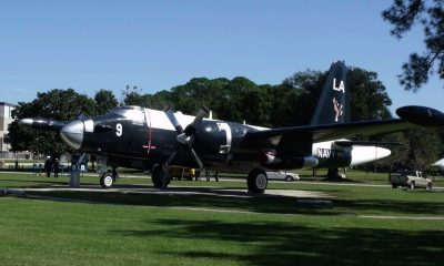 P-2V Neptune in the livery of the lost plane, LA-9, at the US Naval Base, Jacksonville, Florida.