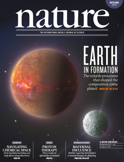 Cover of Nature, 28 Sept 2017